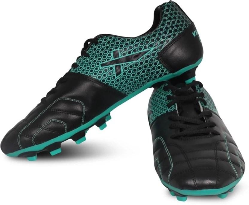 Vector  football shoes for men black green also buy seagreen color rh flipkart