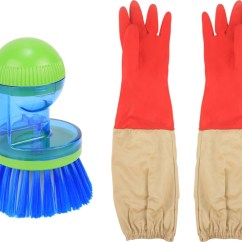 Kitchen Gloves Countertops Laminate Hokipo Super Saver Combo Long Advanced Liquid Soap Dispensing Cleaning