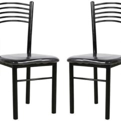 Iron Chair Price Adjustable Floor With 5 Settings Parin Metal Dining In India Buy Set Of 2 Finish Color Black