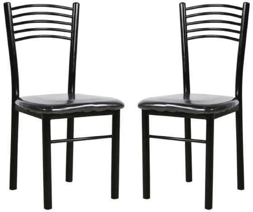 iron chair price crate and barrel lounge parin metal dining in india buy set of 2 finish color black