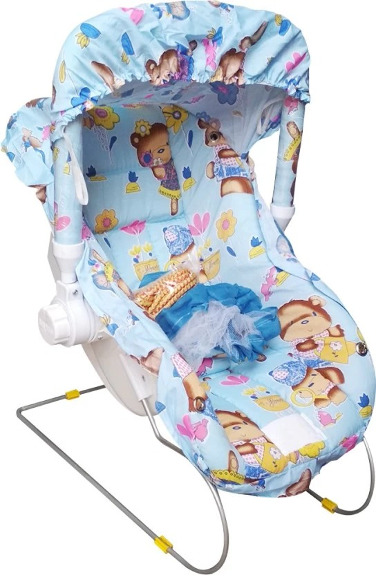 baby chair rocker wedding covers for sale in south africa confiado carry cot bed swing cum bouncer electric blue