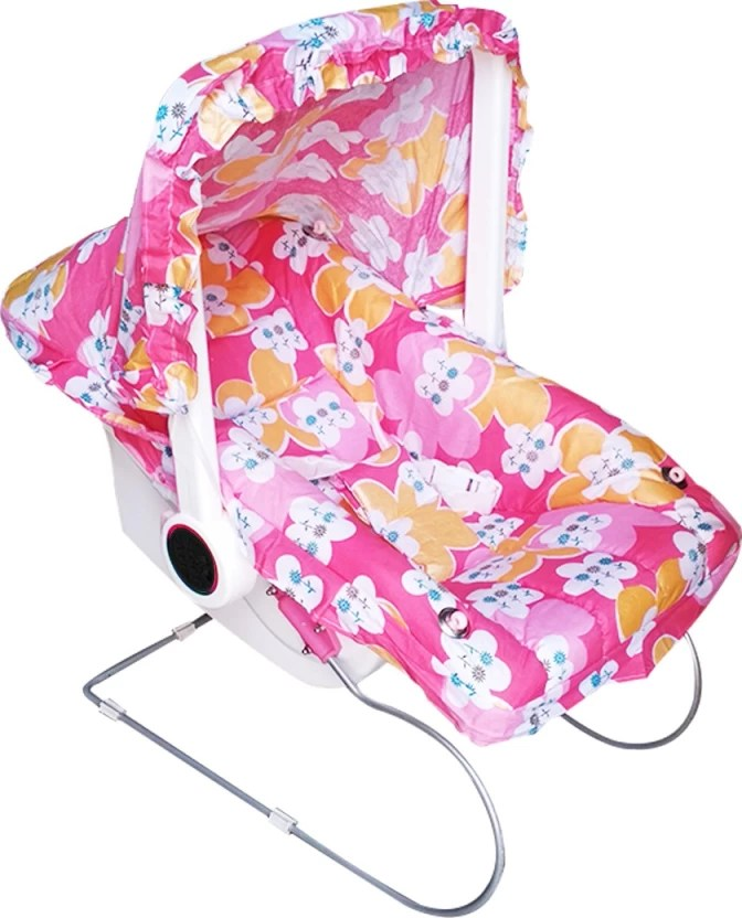 baby chair rocker hanging crescent stand confiado carry cot bed swing cum bouncer electric pink