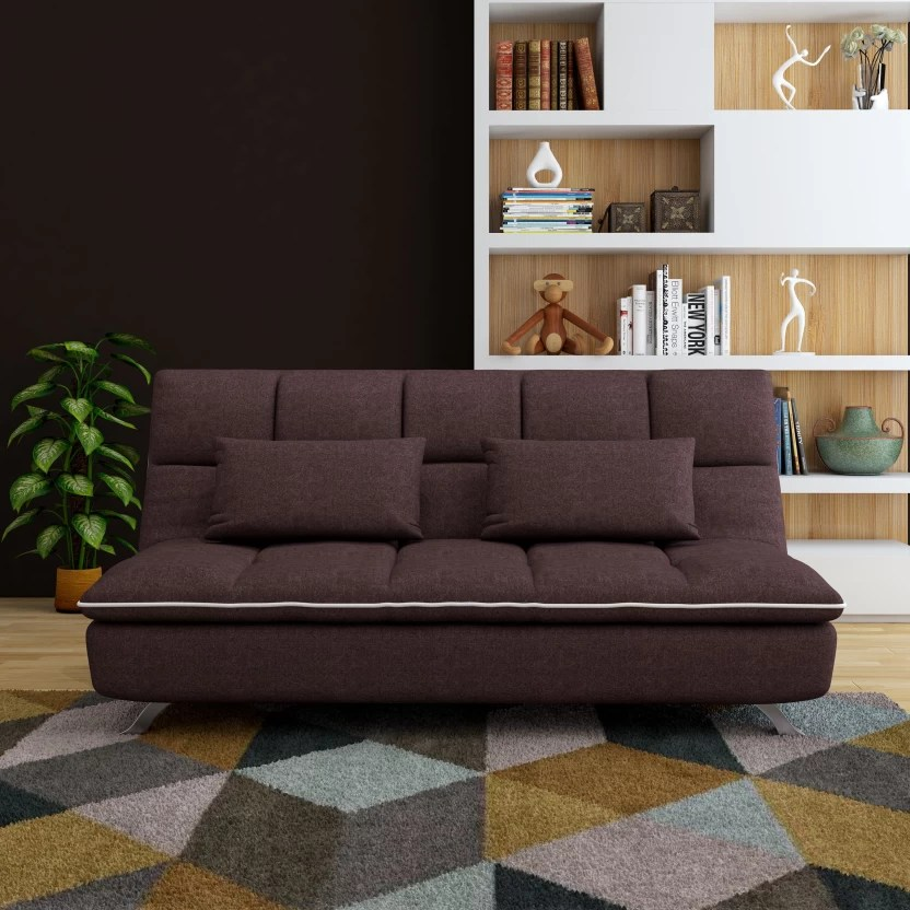 buy sofa bed new york how tall should a table lamp be furny ariana double metal price in india finish color dark coffee mechanism type fold out
