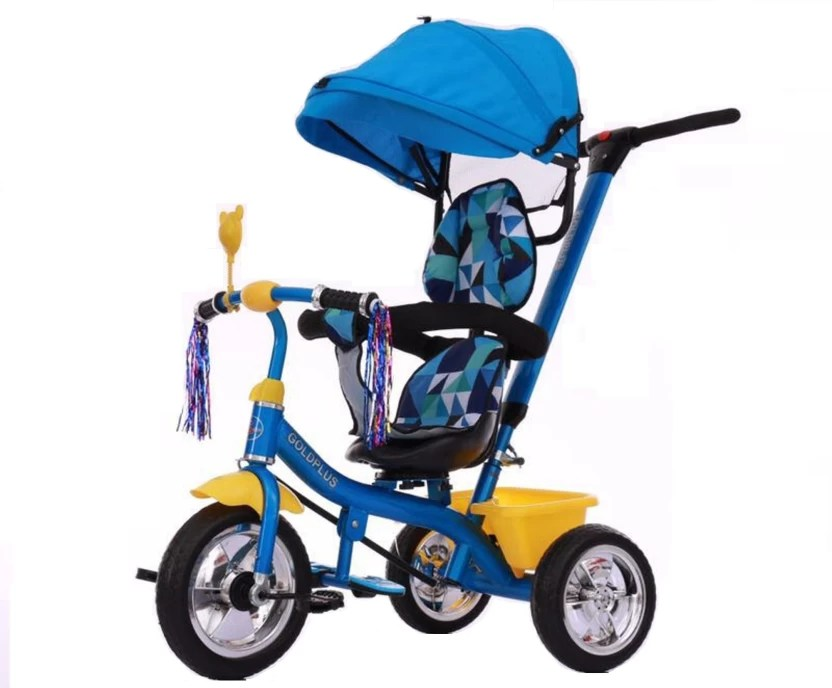 revolving chair for baby drive medical duet transport wheelchair rollator walker pp infinity imported trike tricycle blue yellow