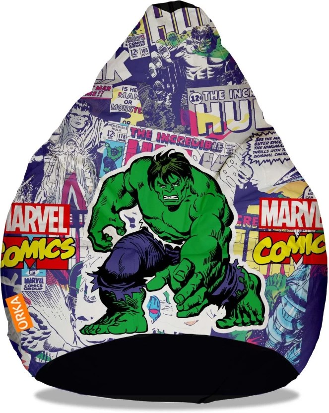 avengers bean bag chair ps4 gaming orka xxxl incredible hulk digital printed with filling
