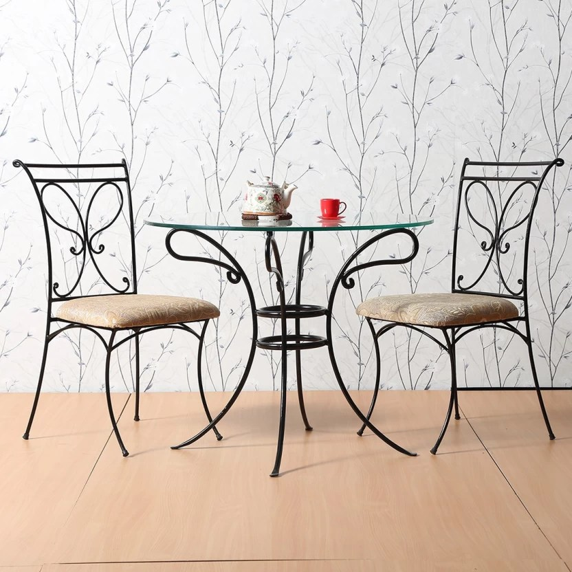 two seater dining table and chairs india garden asda fullstock lassy metal 2 price in buy finish color black