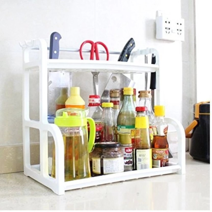 kitchen organizer small flat screen tv for syga rack with hooks home racks plastic