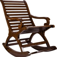 Rocking Chair With Footrest India Kids Lounge Surprise Interiors Brownrock Solid Wood 1 Seater Chairs Finish Color Brown