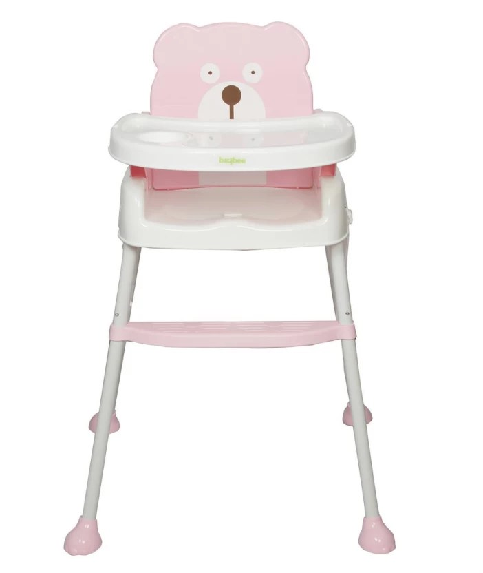 high chairs for babies power chairside table baybee 5 in 1 smart and convertible chair baby feeding pink