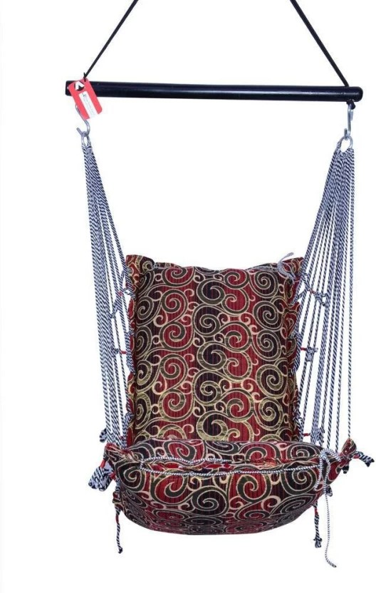 hanging chair flipkart real electric execution kkriya home decor r1 cotton swing price in india buy multicolor
