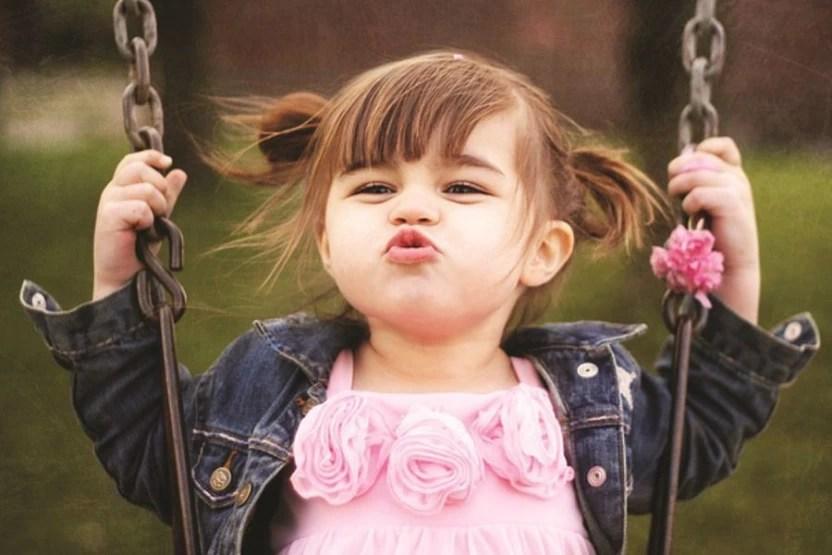 cute baby girls play