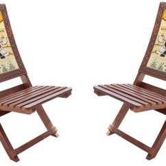 Wooden Living Room Chairs Decorating A Rectangular With Fireplace Hindoro Handicraft Folding Set Of 2 36 Inch Height Traditional Chair For Home Decor And Gifts Solid Wood
