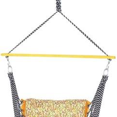 Hanging Chair Flipkart Recliner Lift Ira Ea Velvet Swing Jula Hammock Folding And Washable Wooden Brown