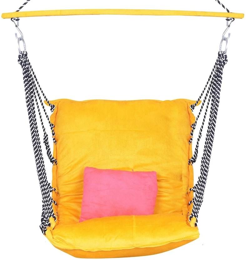 hanging chair flipkart primitive pads ira ea jumbo adult hammock zula velvet swing jhula wooden brown