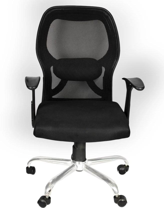 office chair fabric kneeling apex apollo medium back executive black