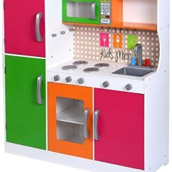 Wood Kitchen Playsets Makeovers On A Budget Costzon Toy Kids Cooking Pretend Play Set Toddler Wooden Playset Gift