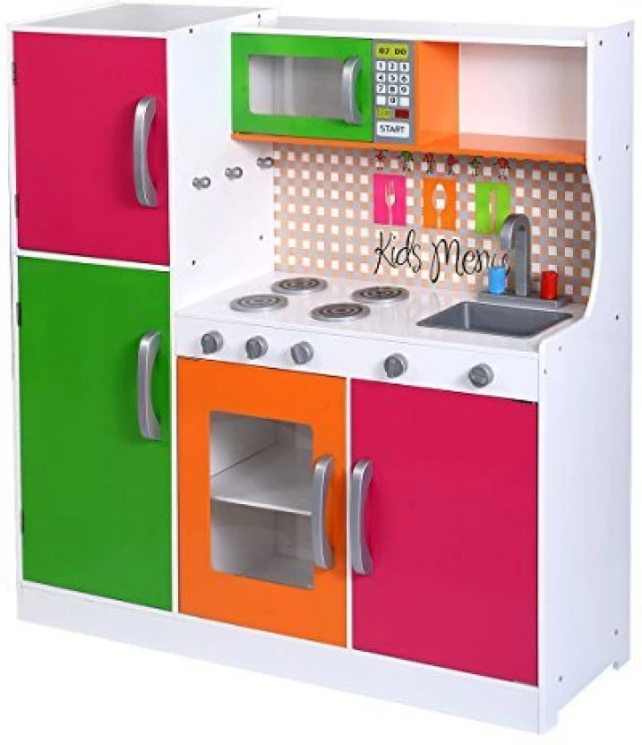 wood kitchen playsets american standard faucet parts costzon toy kids cooking pretend play set toddler wooden playset gift
