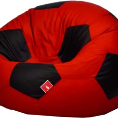 Football Bean Bag Chair Metal Folding Chairs Bulk Comfy Bags Xl Soccerati By Sofa With Filling Red
