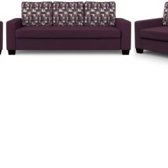 Sofa Set Online Shopping Room And Board Bed Reviews Flipkart Perfect Homes Trieste Fabric 3 2 1 Purple Price In India Buy