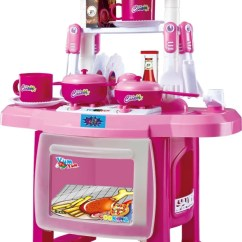 Kitchen Set Ikea Cabinets Cost Estimate Webby Kids Children Toys Large Cooking Simulation Model Play Pink