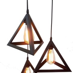 Hanging Ceiling Lights For Living Room India Elegant Setup Brightlyt 3 Triangle Cluster Chandelier Home Decor Restaurant Bars With Bulbs Lamp Price In Buy
