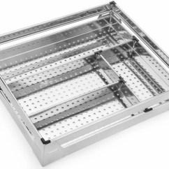 Kitchen Basket Ikea Island Keepwell Stainless Steel Rack Cutlery Modular Trolley