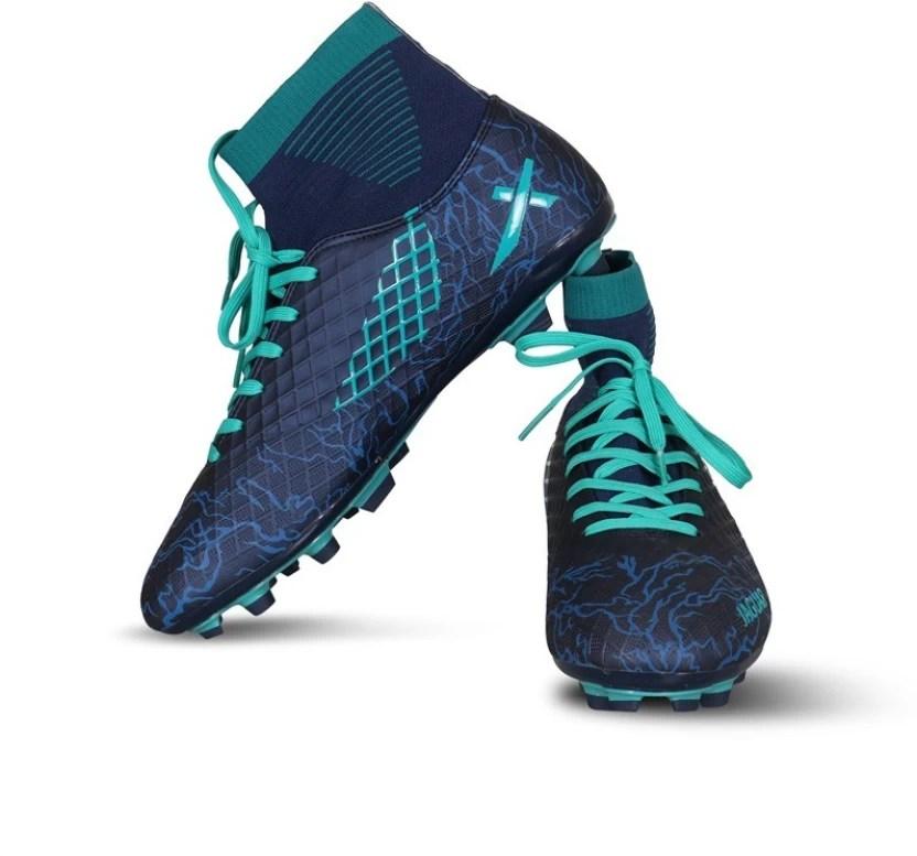 Vector  jaguar football shoes for men navy green also buy rh flipkart