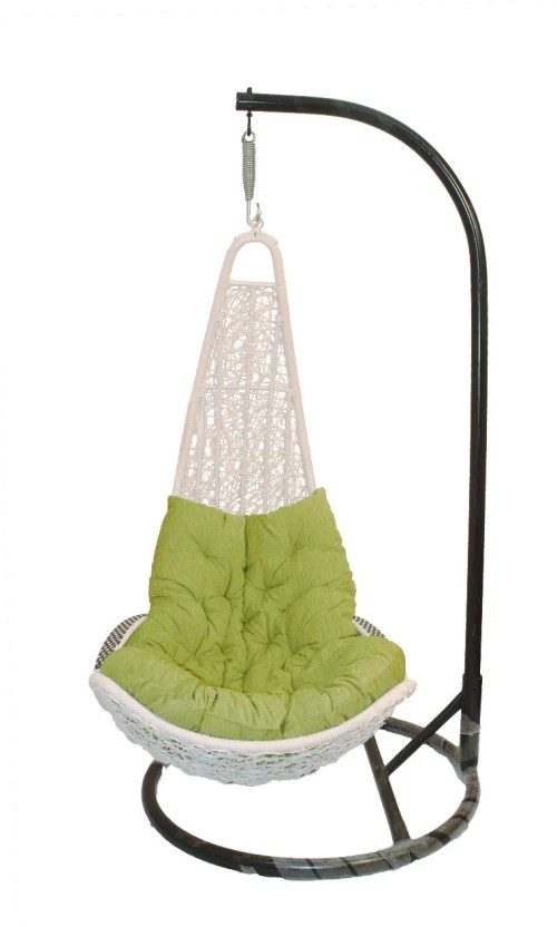 hanging chair flipkart outside wicker cushions carry bird l shape white iron swing price in india buy
