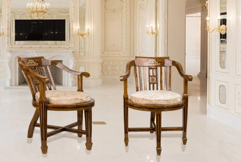 chairs for living room india table lamps dzyn furnitures ancient gold solid wood chair finish color multicolor