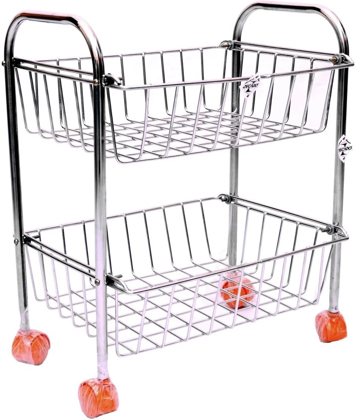 stainless steel kitchen cart backsplashes in kitchens zecado ktsq2sh1215 trolley price india buy online at flipkart com
