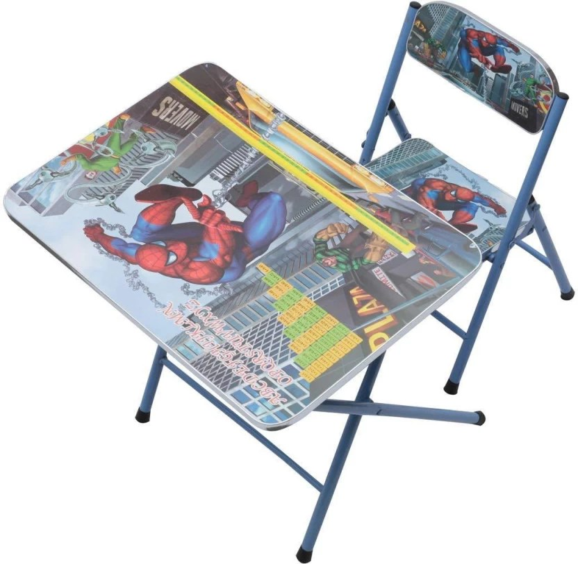 spiderman table and chairs ergonomic chair comfortable powerpak spider man set engineered wood activity finish color multi