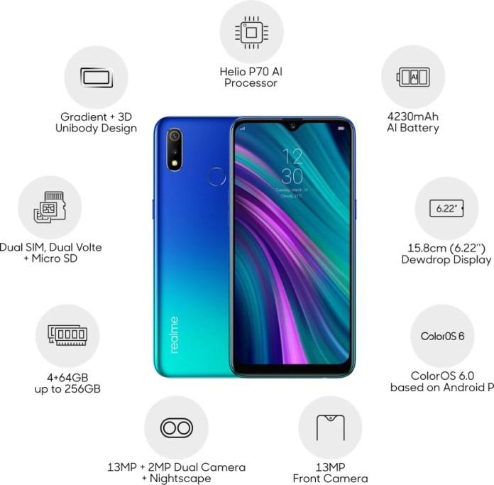 Realme 3 (Radiant Blue, 64 GB)