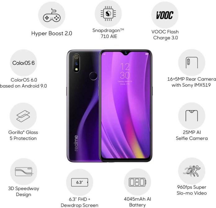 Realme 3 Pro (Lightning Purple, 64 GB)