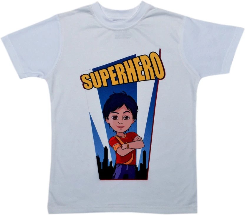 ff36abbd Shiva Boys Graphic Print Cotton Polyester Blend T Shirt Price In