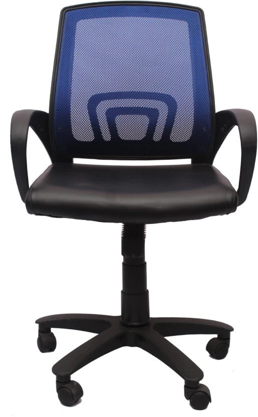 revolving chair gst rate college lounge vj interior fabric office arm price in india buy blue