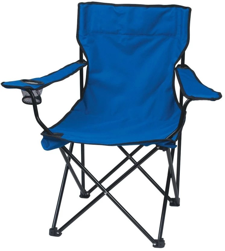 folding chair india swivel hunting with gun rest shrih portable camping metal outdoor price in finish color blue
