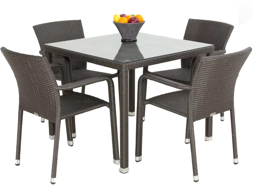 table chair set steel singapore studio f brown synthetic fiber price in india finish color
