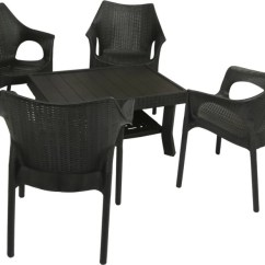 Resin Table And Chairs Set Staples Hardwood Chair Mat Mavi Black Plastic Price In India Buy Finish Color