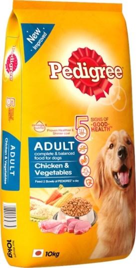 Pedigree Adult Chicken, Vegetable Dog Food  (10 kg Pack of 1)