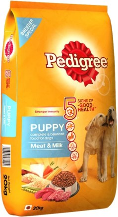 Pedigree Puppy Meat, Milk Dog Food  (20 kg Pack of 1)
