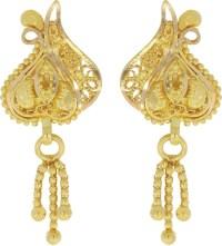 Kalyan Jewellers Calcutta Hanging Yellow Gold 22kt Stud ...
