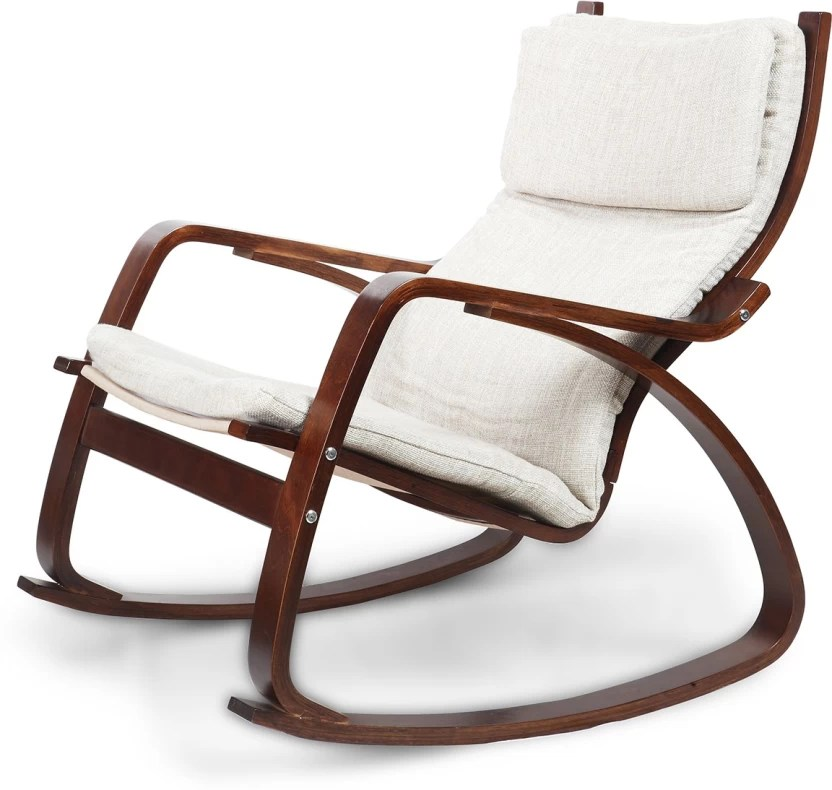 rocking chair with footrest india swivel chairs for sale hometown vita engineered wood 1 seater price in finish color brown