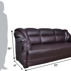 Office Sofa Set India Leather Sleeper Atlanta Homestock Leatherette 3 1 Brown Price In Buy Online At Flipkart Com