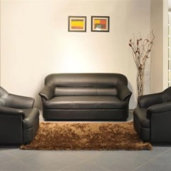 Black Leather Sofa Set Price In India Chesterfield Precio Chile Spacewood Leatherette 3 1 Buy Online At Flipkart Com