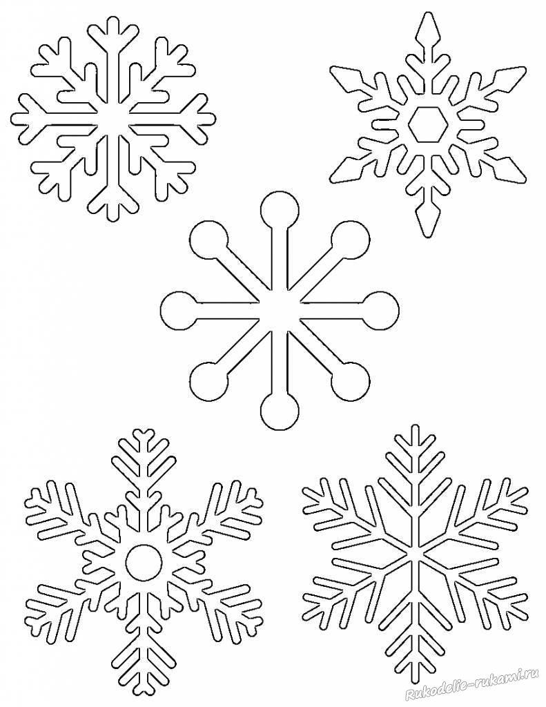 Шаблоны снежинок для вырезания своими руками.