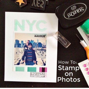 rukristin how to stamp on photos