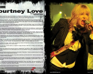 Courtney Love, Concert Review