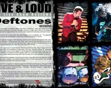 Deftones, Concert Review