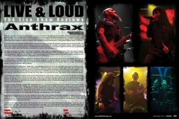 Anthrax, Concert Review