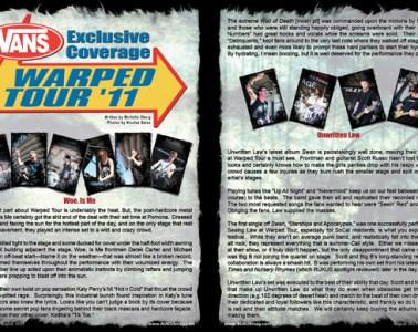 Vans Warped Tour coverage 2011, Concert Review